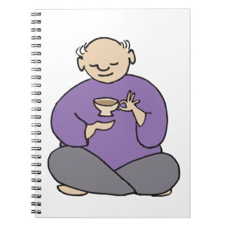 Grandmaster of the Tea Kettle Fred Spiral Note Books