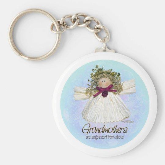 Grandmother Angel - blues Key Ring