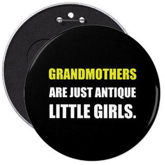 Grandmother Antique Girl 6 Cm Round Badge