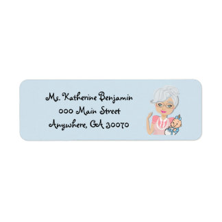 Grandmother Baby Shower Return Address Sticker