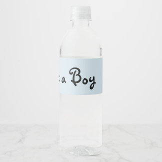 Grandmother Baby Shower Water Bottle Label