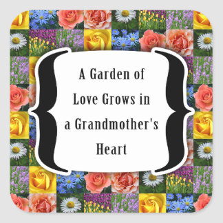 Grandmother : Garden of Love Square Sticker