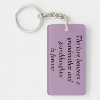 Grandmother & granddaughter love keychain