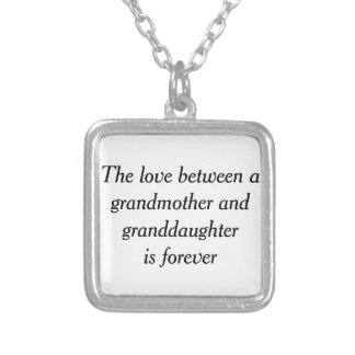 Grandmother & granddaughter love square pendant necklace