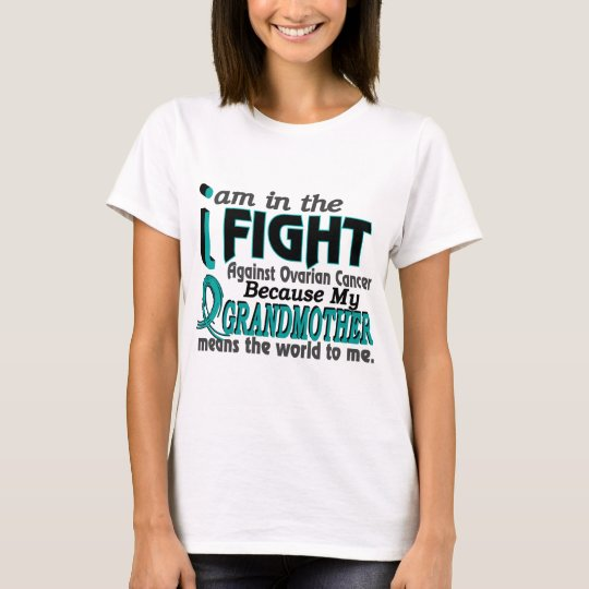Grandmother Means World To Me Ovarian Cancer T-Shirt