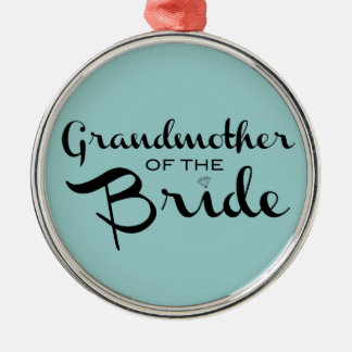 Grandmother of Bride Black on Sea Ornament