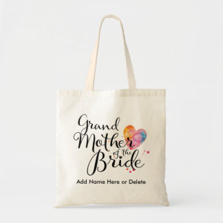 Grandmother of Bride Budget Tote Watercolor