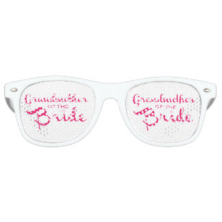 Grandmother of Bride Pink on White Retro Sunglasses