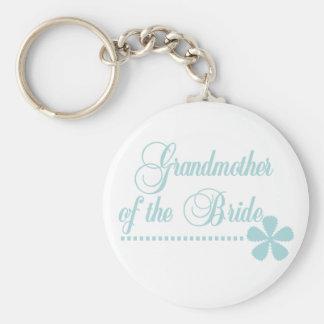Grandmother of Bride Teal Elegance Key Chains