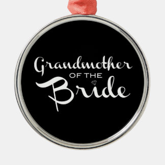 Grandmother of Bride White on Black Ornaments