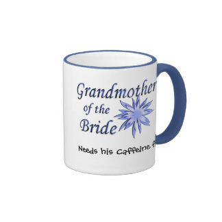 Grandmother of the Bride Blue Ringer Mug