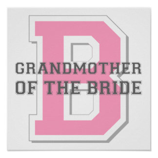 Grandmother of the Bride Cheer Print