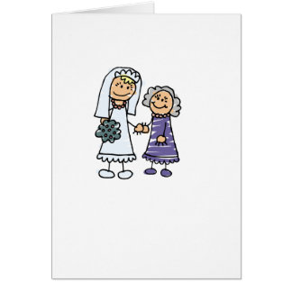 Grandmother Of The Bride On Wedding Day Card