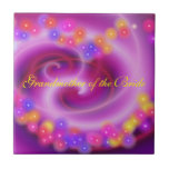 Grandmother of the Bride Swirly Heart Tile