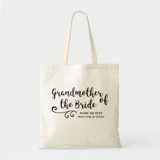 Grandmother of the Bride Tote Bag | Modern Script