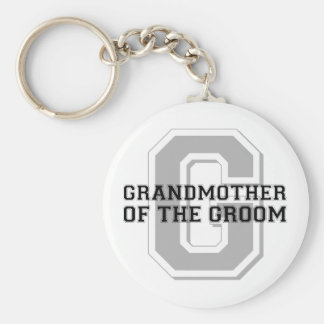 Grandmother of the Groom Cheer Basic Round Button Key Ring