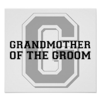 Grandmother of the Groom Cheer Posters