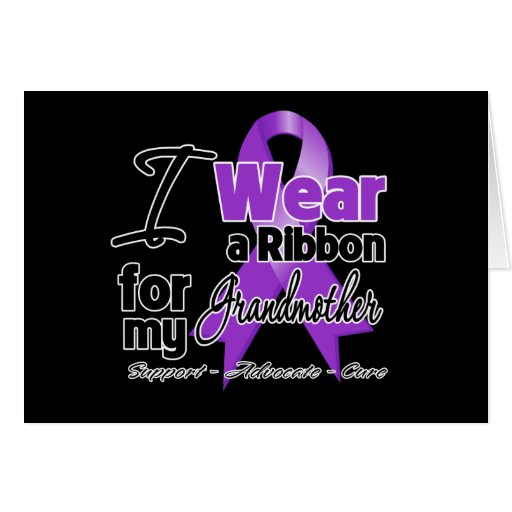 Grandmother - Pancreatic Cancer Ribbon Cards