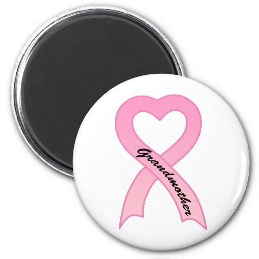 Grandmother Pink Ribbon Magnet