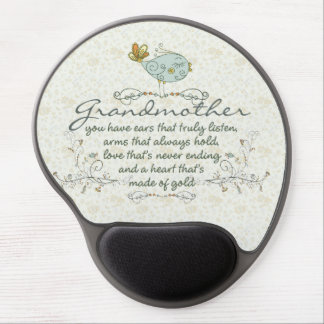 Grandmother Poem with Birds Gel Mouse Pad