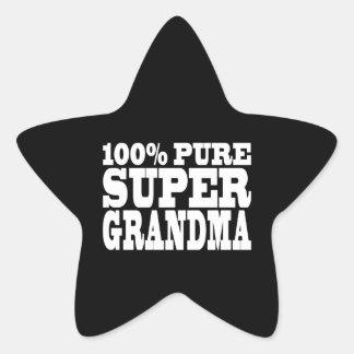 Grandmothers Birthdays : 100% Pure Super Grandma Star Sticker