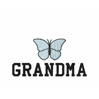 Grandmothers Blue Butterfly Embroidered Shirt