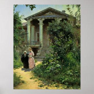 Grandmothers Garden by Vasily Dmitrievich Polenov Poster
