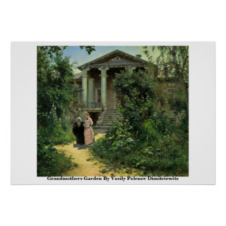 Grandmothers Garden By Vasily Polenov Dimitriewits Print
