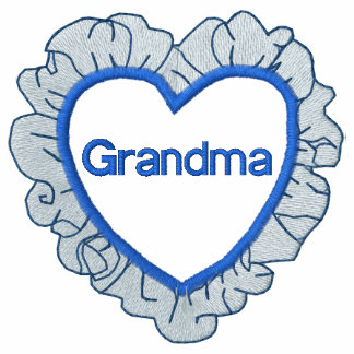 Grandmothers Heart Embroidered Shirt