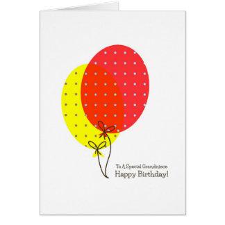 Grandniece Birthday Cards, Big Colourful Balloons Card