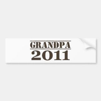 Grandpa 2011 bumper sticker