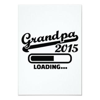 Grandpa 2015 9 cm x 13 cm invitation card