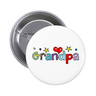 Grandpa 6 Cm Round Badge