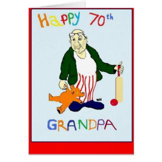 GRANDPA 70TH BIRTHDAY GREETING CARD