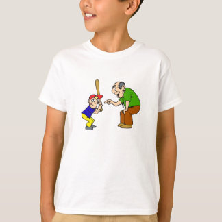 grandpa and boy batter t-shirt