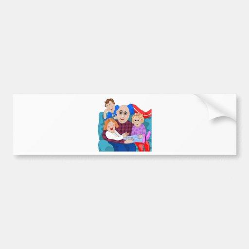 Grandpa and grandchildren bumper sticker