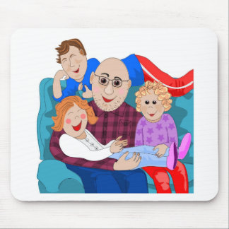 Grandpa and grandchildren mousepads