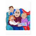 Grandpa and grandchildren postcards