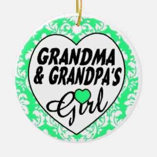 Grandpa and Grandma's Girl Christmas Ornament