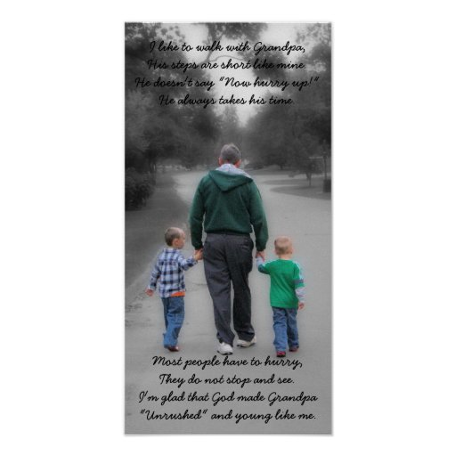 grandpa and grandsons poster