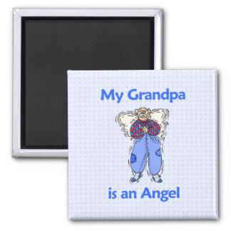 Grandpa Angel Square Magnet