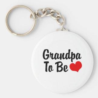 Grandpa Basic Round Button Key Ring