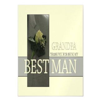 Grandpa best man thank you magnetic invitations