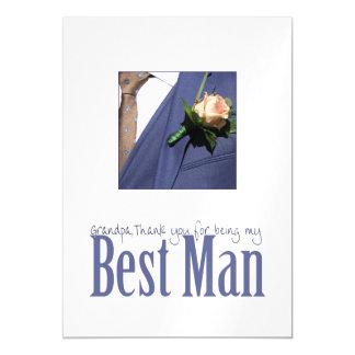 Grandpa best man thank you magnetic invitations