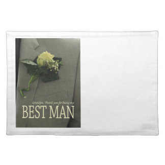 Grandpa best man thank you placemat