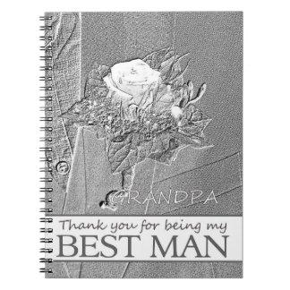 Grandpa best man thank you spiral notebook