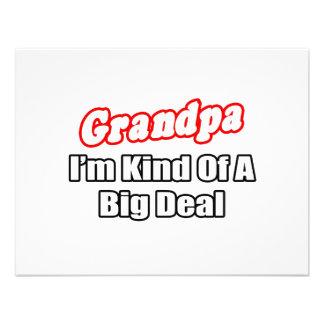 Grandpa Big Deal Custom Announcements