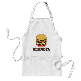 Grandpa Burger BBQ Grilling Gift Aprons