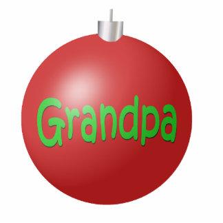 Grandpa Christmas Ornament Photo Sculpture Decoration