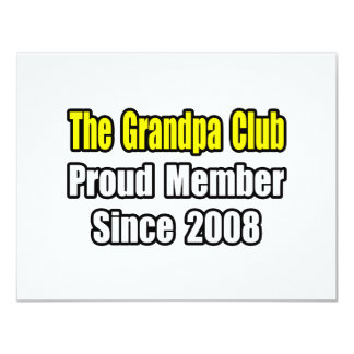 Grandpa Club...Since 2008 11 Cm X 14 Cm Invitation Card